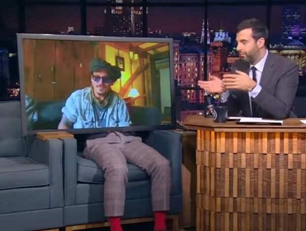 Затравленный Джонни Депп снялся в «Вечернем Урганте» после скандального суда с Эмбер Херд