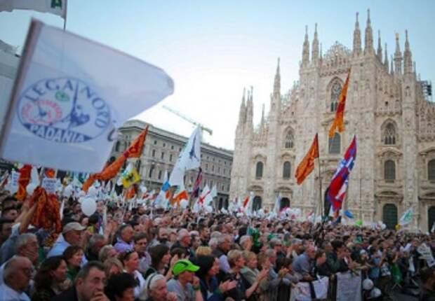 """Итальянская """"Лига Севера"""" призывает покончить с ЕС"""