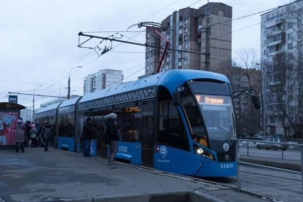 Депо в Строгине пополнилось новыми трамваями