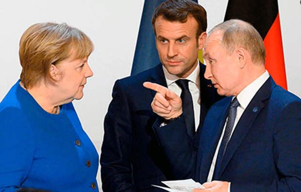 Встреча Путина, Макрона и Меркель и что из нее вытекает