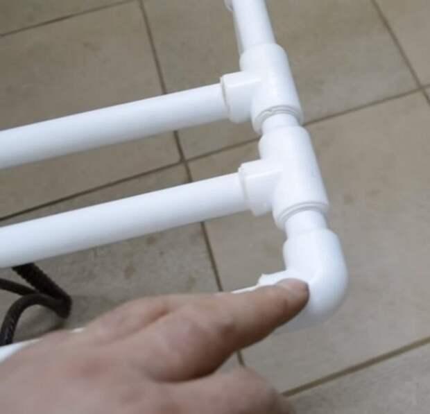 Сушилка из пластиковых труб своими руками
