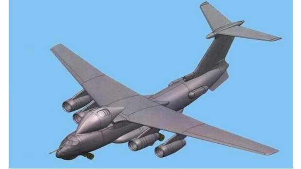 Модель самолета с лазерным прицелом