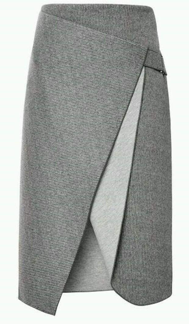 Очень красивая креативная юбка с запахом. Выкройки (1) (370x633, 171Kb)