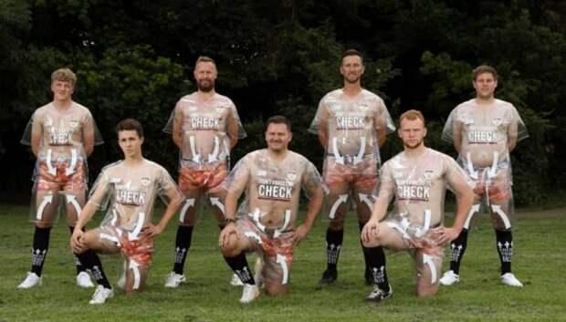 Зачем игроки британского футбольного клуба надели прозрачную форму