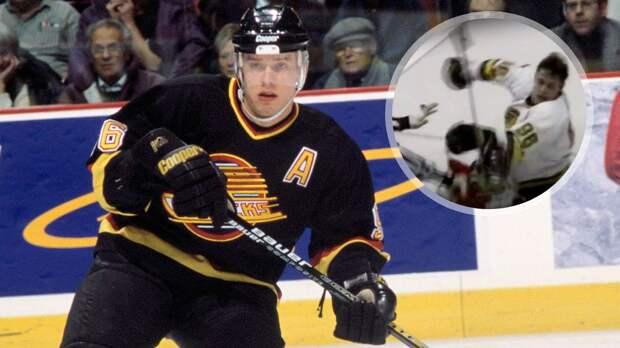 Легендарная драка русского хоккеиста Буре. Он с одного удара уложил на лед канадского громилу: видео