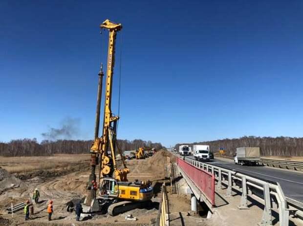 На трассеМ-5 «Урал» начали ремонтировать мост через реку Синара