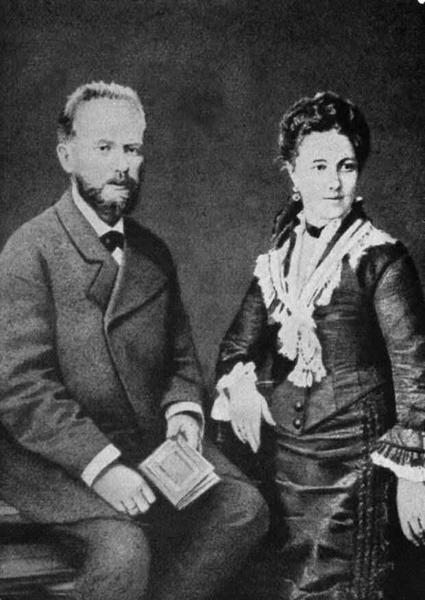 Чайковский и Милюкова вгод свадьбы, 1877.