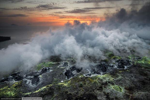Фумаролы острова Вулкано