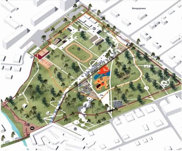 Концепцию благоустройства парка «Березовая роща» представили в Ижевске