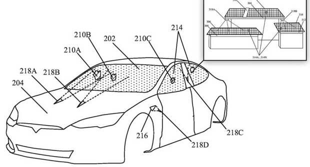 Tesla запатентовала лазерные стеклоочистители