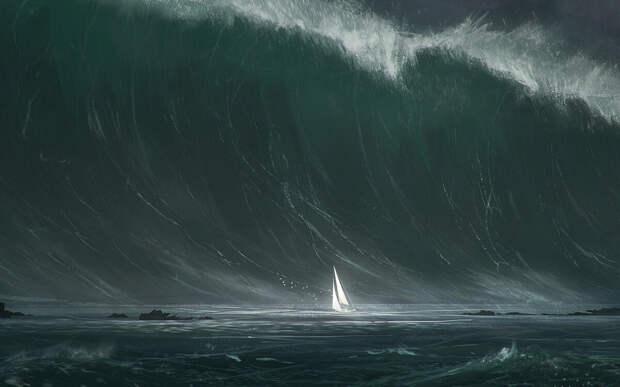 Наука признала, что моряки говорили правду. Одиночные Волны-убийцы