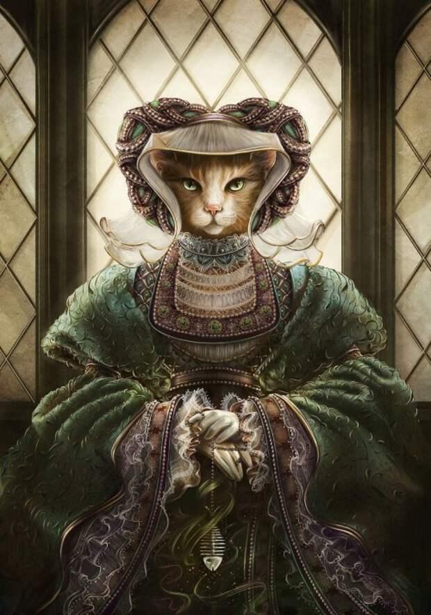 Кошки в образе исторических личностей (10 фото)