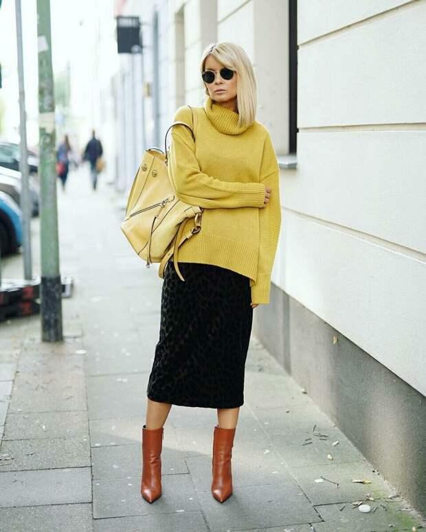 С чем носить оверсайз свитер, чтобы выглядеть стильно и современно?