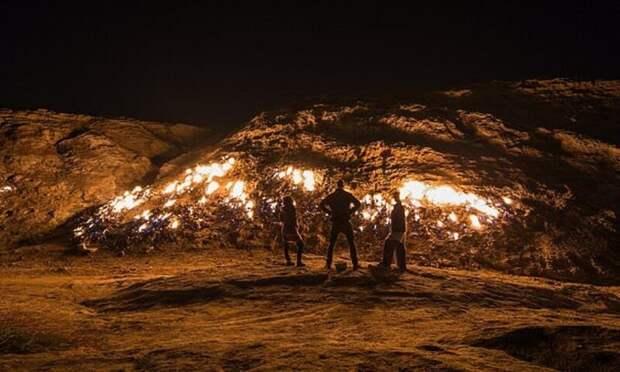 Неугасимый огонь: пылающая гора Таш-Кух