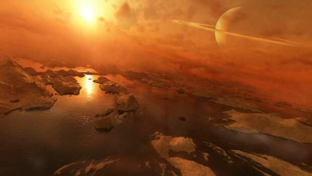 Луна  Сатурна - Титан