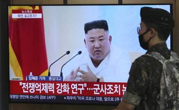 На фото: лидер КНДР Ким Чен Ын