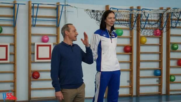 В школе №1155 урок физкультуры провела двукратная чемпионка мира