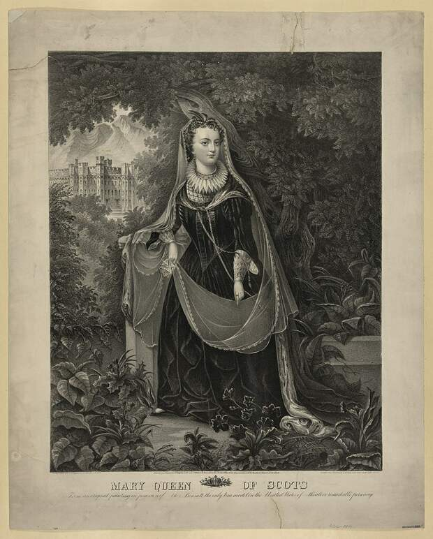"""Mary Queen of Scots Physical description: 1 print. """"Copyright Deposit, Southern District of N.Y. 1866.""""; Library of Congress"""