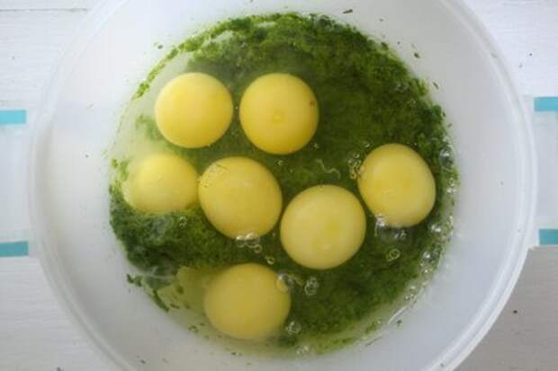Зелёный омлет#накормишкольника: фото шаг 4