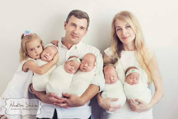 Оксана из Одессы родила пятерняшек (11 фото)