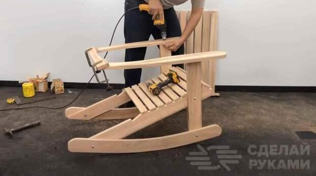 Идея для дома: как сделать кресло-качалку своими руками