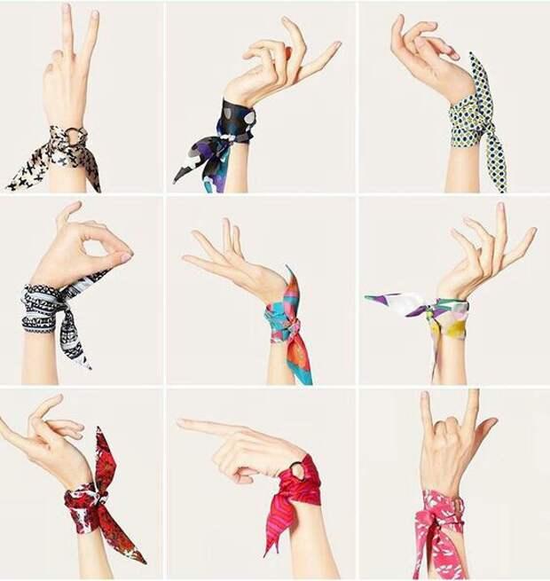 Платки на руку