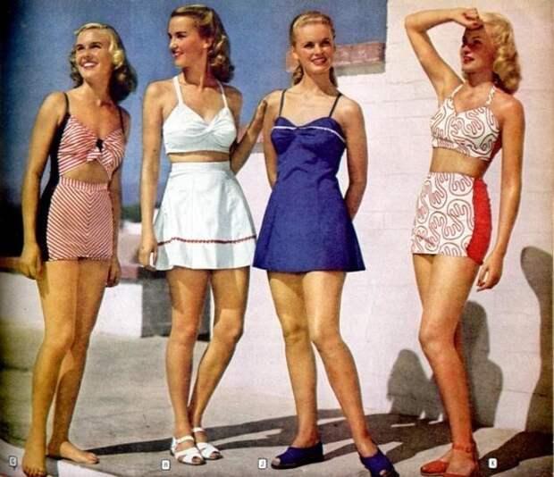 Купальники 1954 года. Сейчас это называется платье