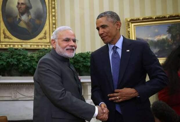 Премьер Индии лично встретил Барака Обаму в аэропорту в нарушение протокола