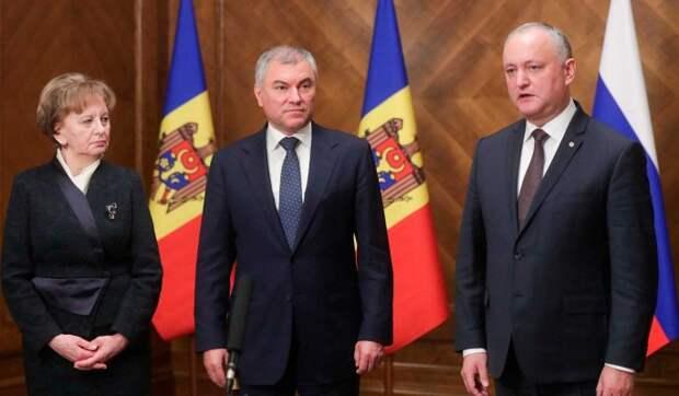 Володин поддержал закон о статусе русского языка в Молдавии