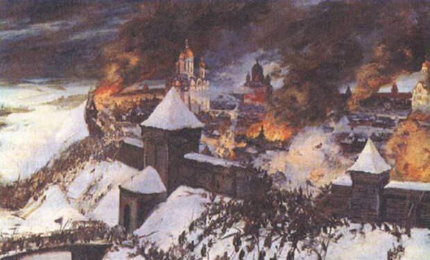 Татары штурмуют город