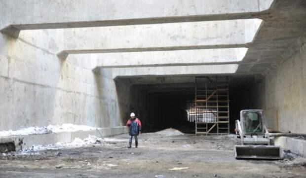 Начались отделочные работы в тоннеле под Киевским шоссе