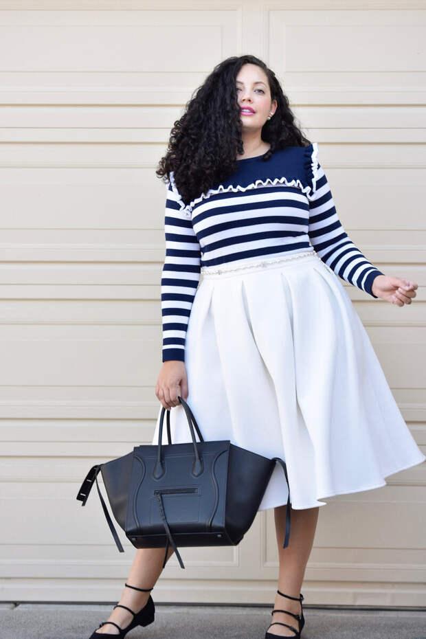 Типы фигур и правильная длина юбки, и расцветка. Примеры образов для женщин 45+