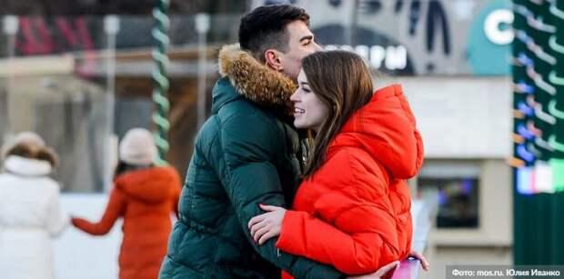 В Москве в День всех влюбленных на катке ВДНХ состоялась первая регистрация брака / Фото: Ю.Иванко, mos.ru