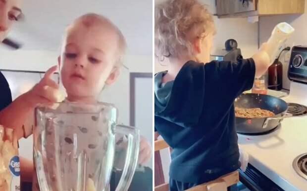 Кроха-повар: мама научила сына готовить в 14 месяцев и вызвала споры в Сети