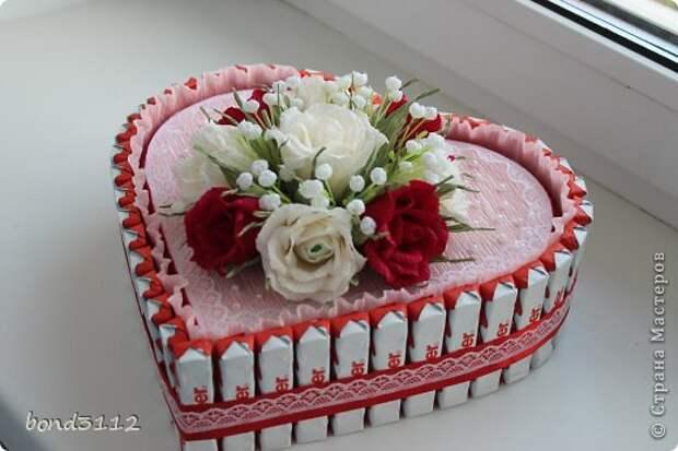 торт сердце Киндер МК