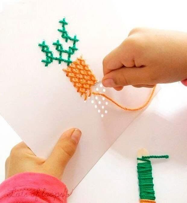 ВЫШИВАЙКА. Вышивка на картоне - тренируем детские пальчики