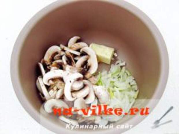 Гречка с грибами шампиньонами в мультиварке