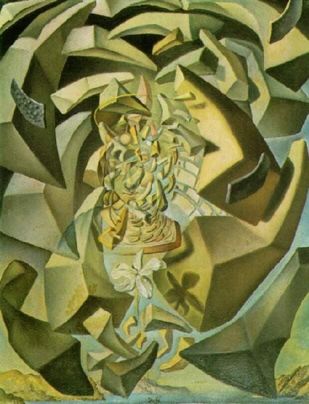 Микрофизическая Мадонна. (1954). Автор: Сальвадор Дали.