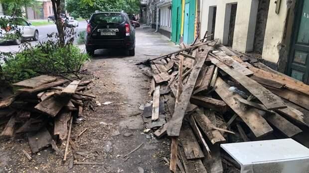 ВРостове-на-Дону выписали 900 протоколов заскладирование строительного мусора