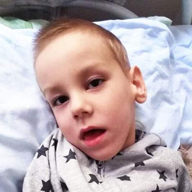 Женя Жерихов, 6 лет, детский церебральный паралич, симптоматическая эпилепсия, требуется лечение, 20556₽