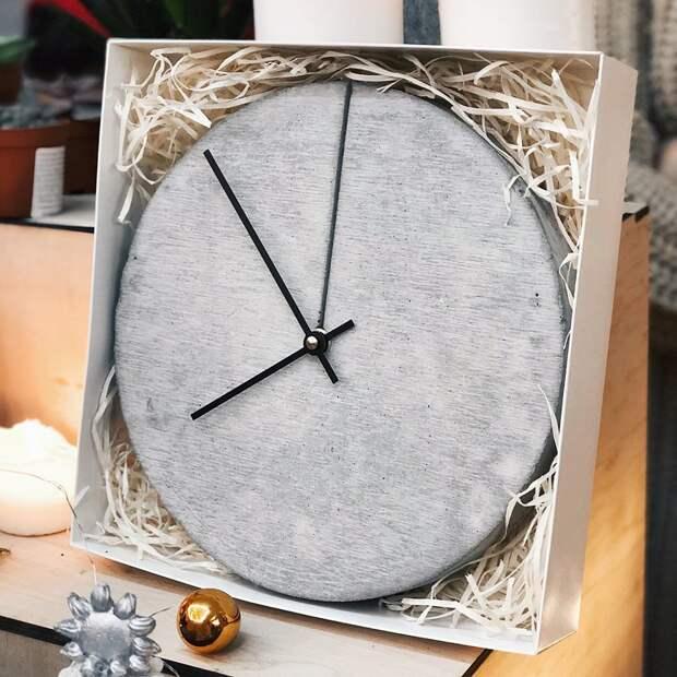 Часы настенные бетон, дизайнерские штучки, из бетона, крутые штуки, необычно, необычные вещи