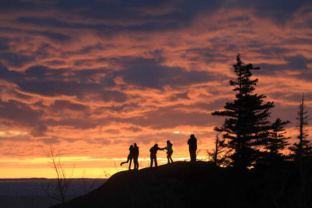 APTOPIX Anchorage Equinox Sunset