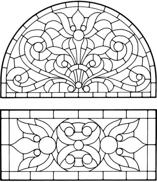 Шаблоны витражей — как расписать стекло
