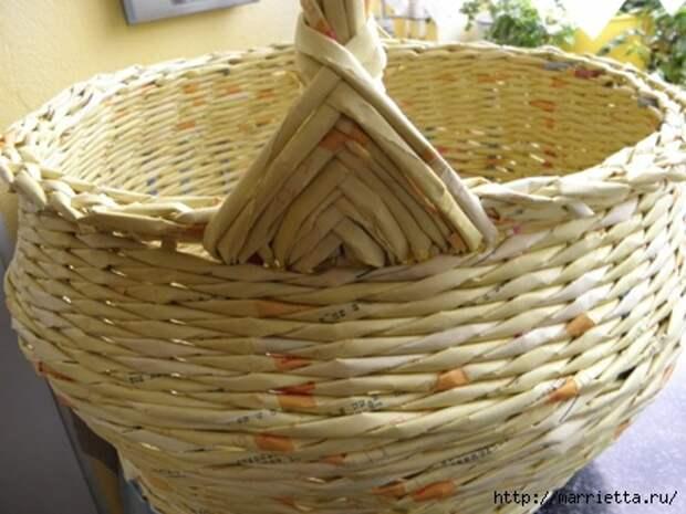 плетение из газет. корзинка из газетных трубочек (20) (448x336, 107Kb)