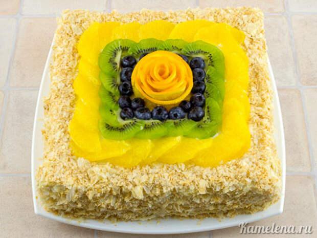 Торт «Наполеон» из слоеного теста — 13 шаг