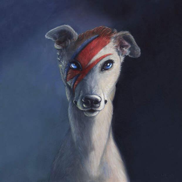 Если бы души исторических персоналий переселились в животных: серия картин Кристины Хесс