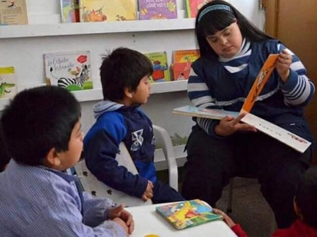 Ноэлия Гарелла — воспитатель в детском саду болезнь, в мире, гены, заболевание, люди, синдром дауна, целеустремленность