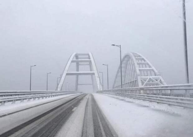 Крымский мост перекрыт