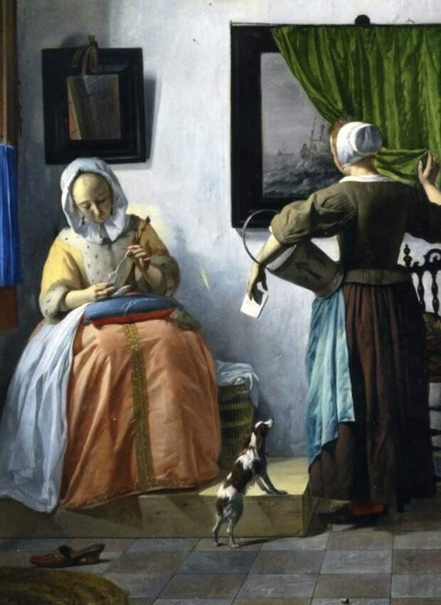 Картина Габриэля Метсю.