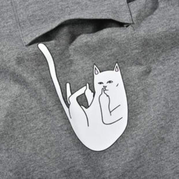 """Выпадающий кот с факом"",  Rip n Dip"